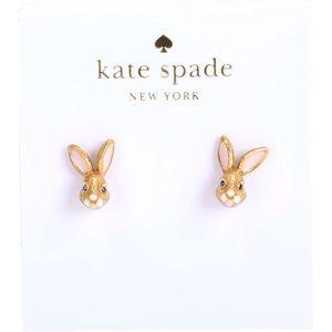 kate spade Rabbit Bunny Stud Earrings